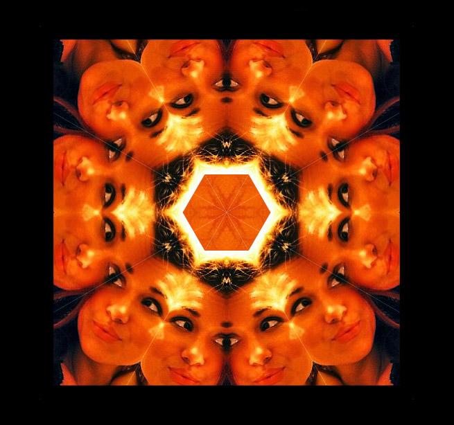 Калейдоскоп онлайн со сменой 'кристаллов'(картинок)